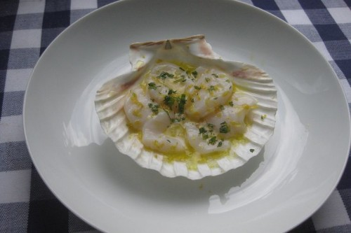 Scallop Crudo with Citrus, Mint and SeaSalt