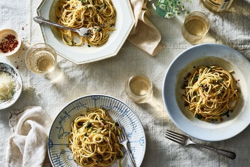 Pantry Pasta With Anchovies, Olives &Capers