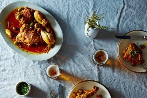 Braised Moroccan Chicken andOlives