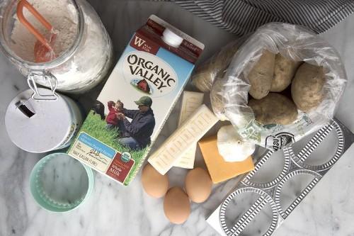 Homemade Cheddar and GarlicPierogi