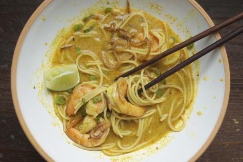 Thai Curry Noodles withShrimp
