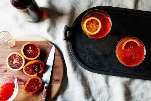Campari orange cider cocktail