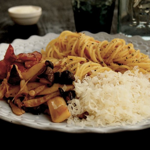Soy sauce flavored Spaghetti Japanese Pasta Recipe on Food52