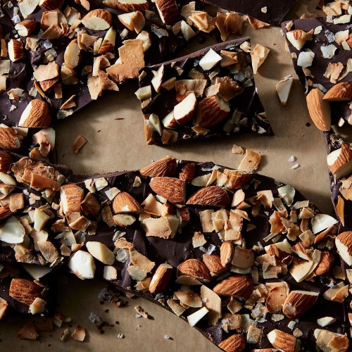 Dark Chocolate Bark Recipe with Almonds & Coconut