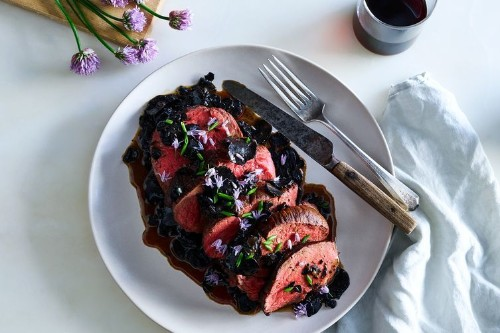 Beef Tenderloin with Black TruffleSauce