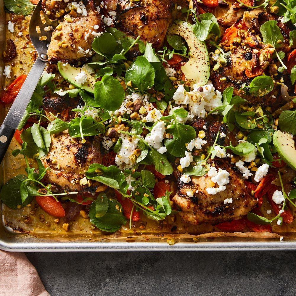 Sheet-Pan Za'atar Chicken With Carrot & Avocado Salad Recipe on Food52