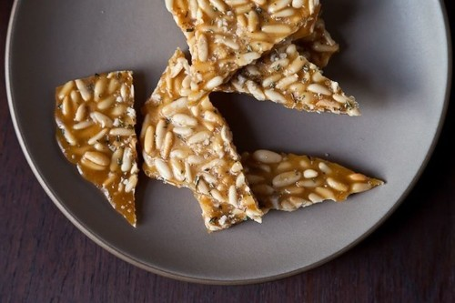 Pine Nut Brittle withRosemary