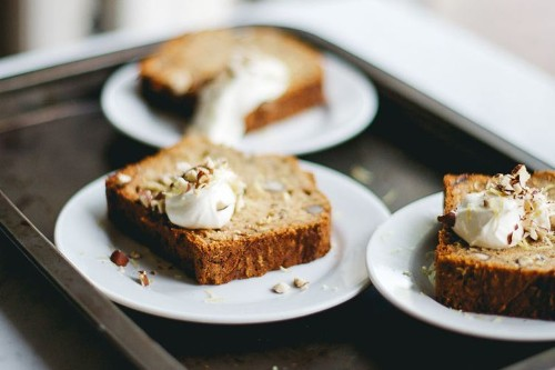 Zucchini Bread with Dates andHazelnuts