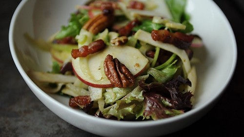 Not-Too-Virtuous Salad with Caramelized Apple Vinaigrette Recipe on Food52