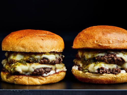 Hatch Chile Smash Burgers
