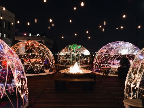 You Can Actually Curl at This Igloo-Filled Rooftop Bar in Nashville