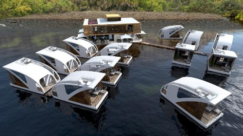 This Award-Winning Hotel Design Showcases Floating and Mobile Luxury Suites