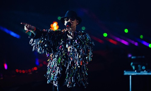 Zhu On His Festival Wristband Jacket Created For EDC Las Vegas