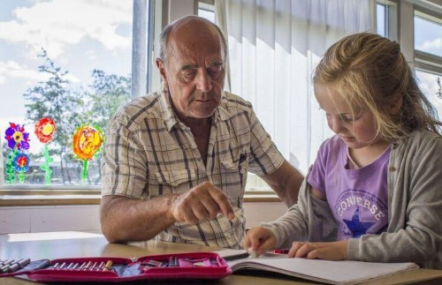 The Program Where Older Volunteers Become School 'Aunts' And 'Uncles'