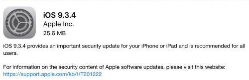 Apple Confirms iOS 9.3.4 Introduces VoiceOver Bug