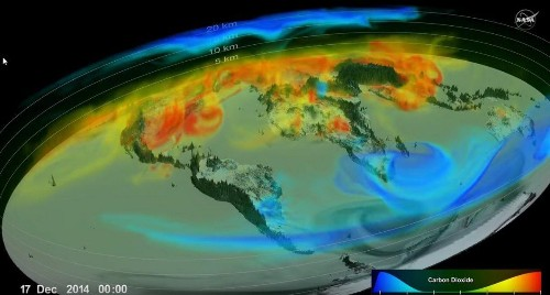 NASA's Spectacular New Video Shows Previously Unseen Changes In CO2 In The Atmosphere