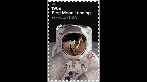 Buzz Aldrin Dominates Apollo 11 First Moon Landing Stamps But Can You Spot First Man Neil Armstrong?