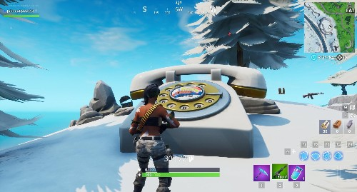 Fortnite Challenge: Where To Dial The Durrr Burger Number On The Big Telephone West Of Fatal Fields