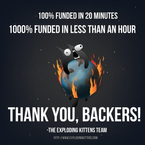 The Oatmeal's 'Exploding Kittens' Kickstarter Could Set A New Funding Record