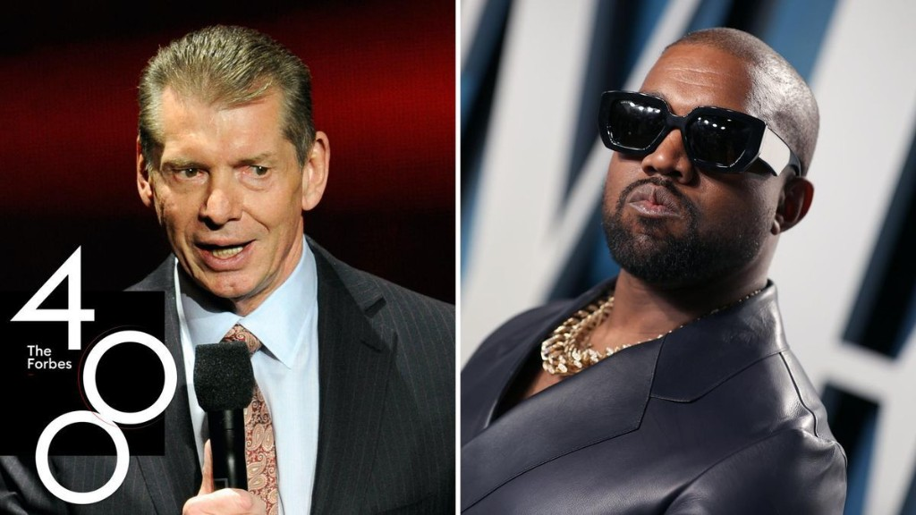 Rich, But Not Rich Enough: Kanye West, WWE's Vince McMahon Among 233 Billionaires Who Didn't Make The Forbes 400 List This Year