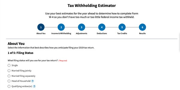 IRS Introduces New Tax Withholding Estimator To Help Taxpayers Avoid Surprises In 2020