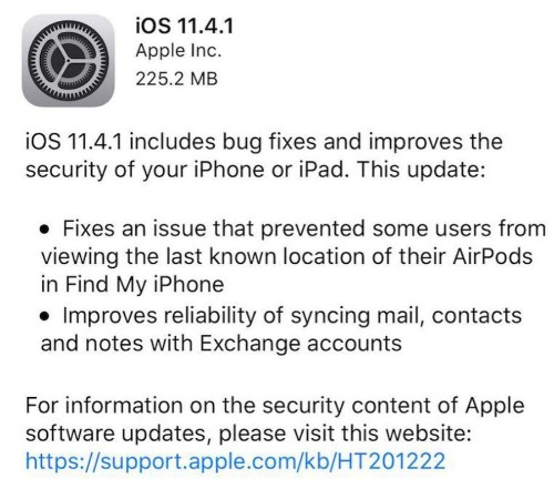 Apple iOS 11.4.1 Release Has A Nasty Surprise