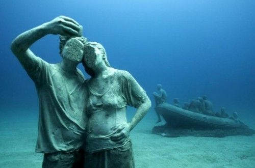 The First Undersea Art Museum In The Atlantic: Swim Through Hundreds Of Life-Size Sculptures