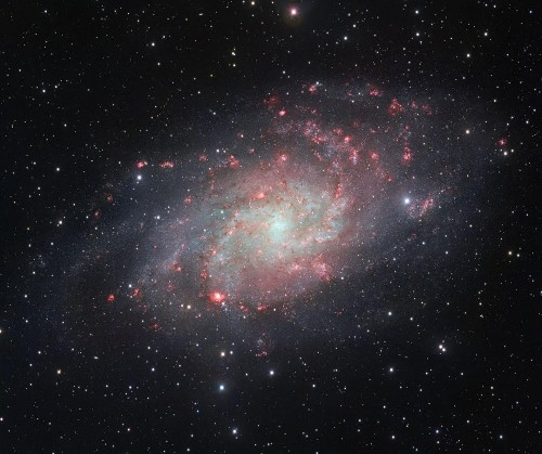 New Stars Turn Galaxies Pink, Even Though There Are No 'Pink Stars'
