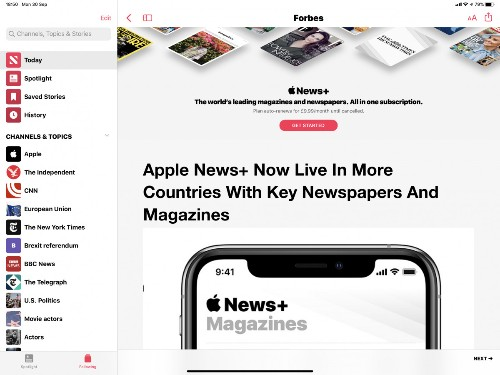 Apple News+ Now Live In More Countries With Key Newspapers And Magazines