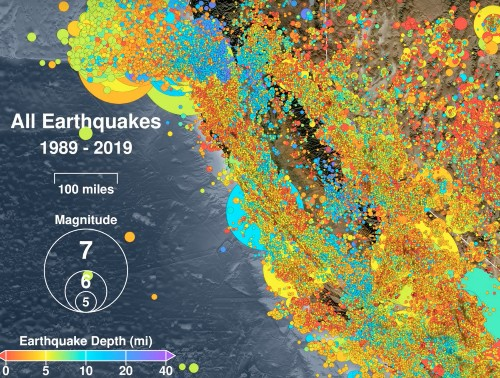 Watch 30 Years Of Earthquakes Rock California In This Remarkable Animation