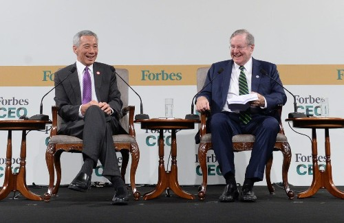 Singapore PM Warns Of Trade War's Worldwide Impact At Forbes Global CEO Conference