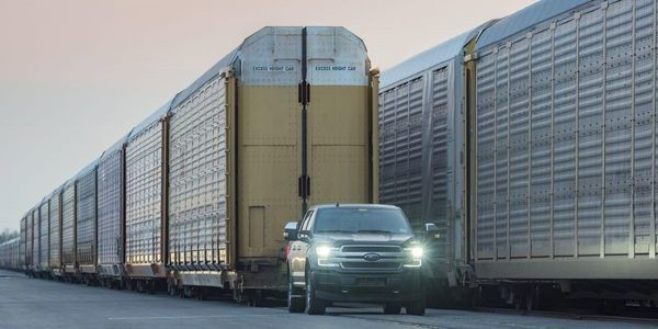 Ford Hauls Rail Cars To Tout Towing Capacity Of Electric F-150 Pickup