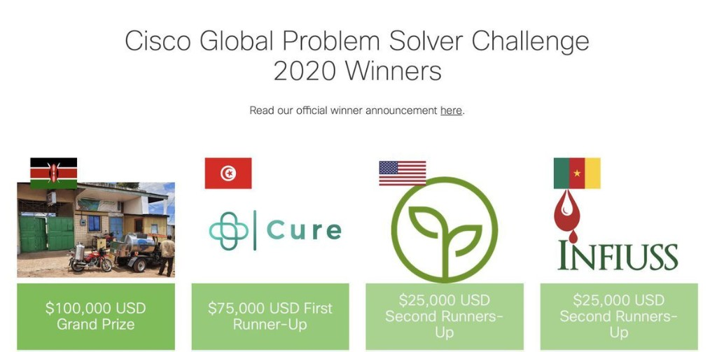 The Winners Of The 2020 Cisco Global Problem Solver Challenge Find The Good In Tech