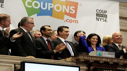 Coupons.com Surging More Than 90% In Stock Market Debut