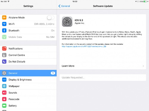 Apple iOS 9.3 Has Night Shift Restrictions