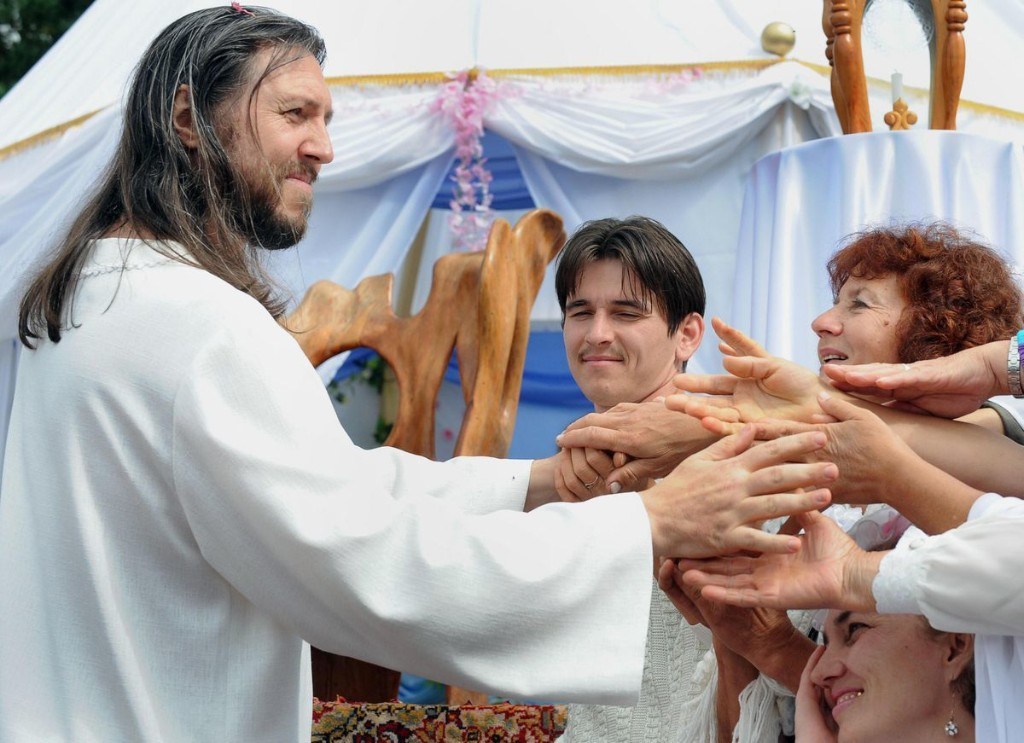 The Authorities In Russia Show Religious Sect Leader They Are In Charge