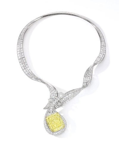 Yellow Diamond Necklace By Anna Hu To Sell For $6.5 Million At Sotheby's