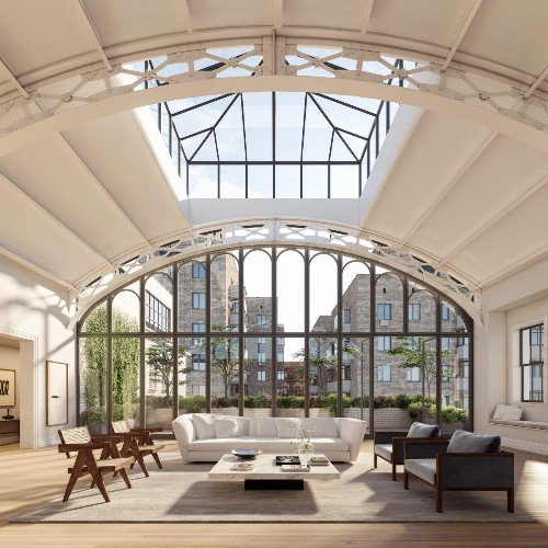 How A Former School Gymnasium Became An $18 Million Penthouse