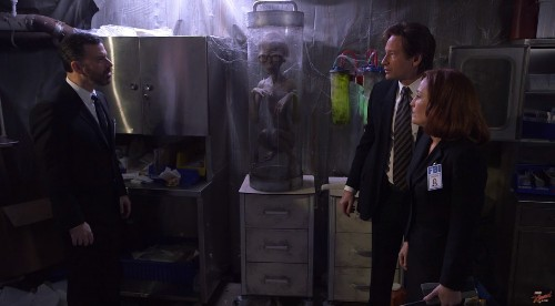 Scully And Mulder Dial-Up, And Hook Up, In Hilarious Jimmy Kimmel 'X-Files' Skit