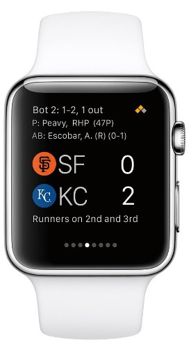 MLB.com's 'At Bat' For Apple Watch Shown At San Francisco Event