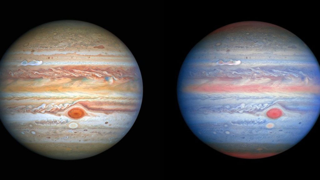 Hubble Snaps Stunning New 'Rainbow' Views Of Jupiter And Icy Moon Europa