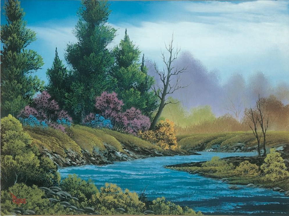 A Rare Exhibit Of Kitsch Landscapes By TV Artist Bob Ross Reveals The Unrecognized Genius Of 'The Joy Of Painting'