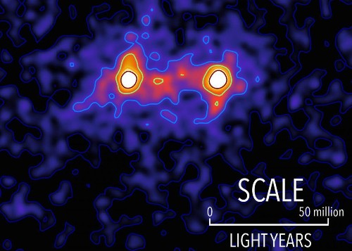 Filaments Of Dark Matter Are Seen Between Galaxies