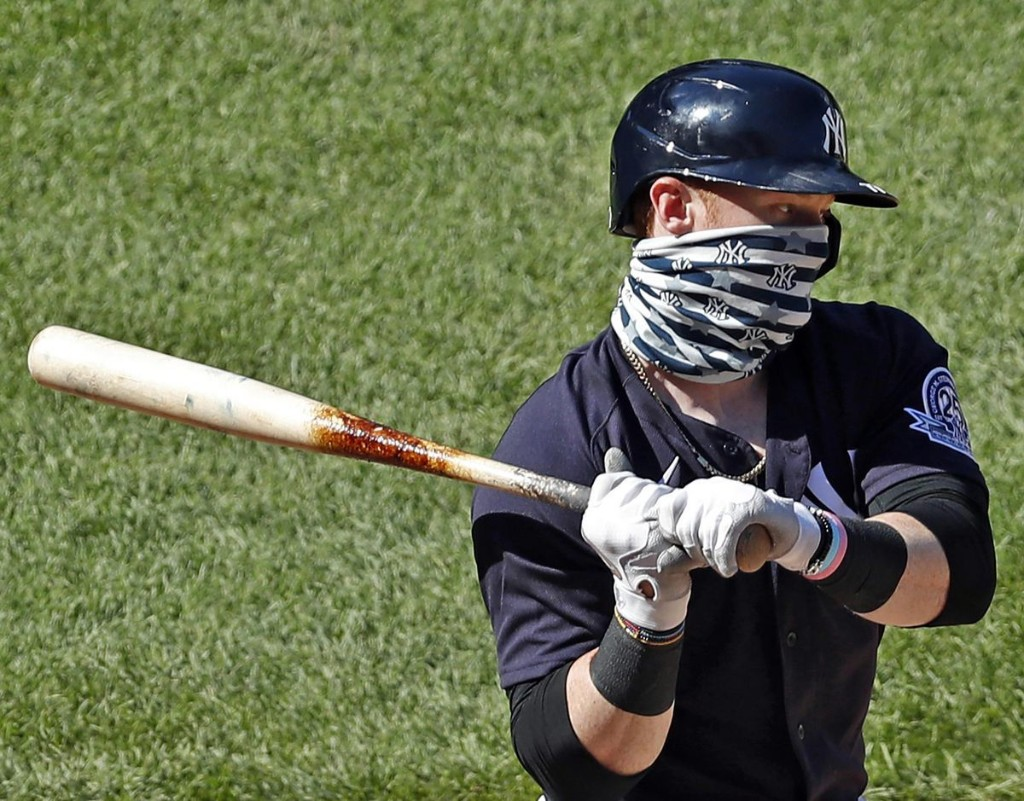 Yankees' Outfielder Clint Frazier Among MLB Players Weighing In On Facemasks