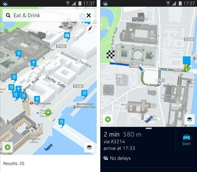 Samsung Shuns Google By Offering Nokia's Here Maps On Galaxy Phones