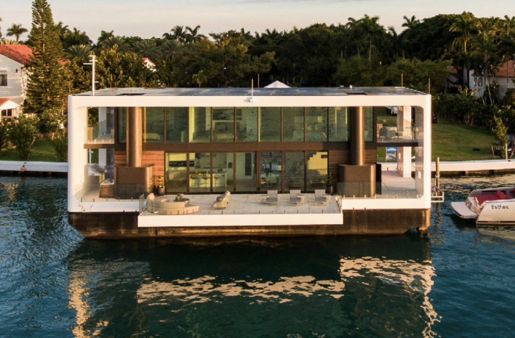 How This Luxury Home Floats On Water, Adjusts To Rising Sea Levels And Withstands Category 4 Winds