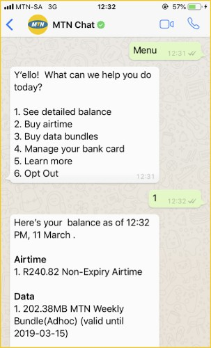 "MTN Launches ""World-First"" Airtime Top-up Through WhatsApp"