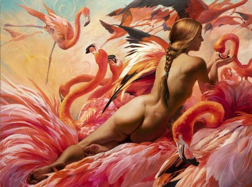 Earthly, Otherworldly Themes Collide, Captivate In Lush Paintings Of Artist Who Awed Marvel Comics