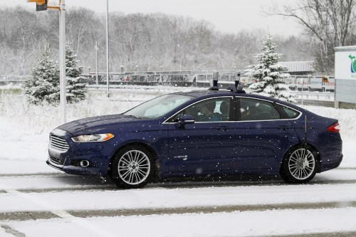 Ford Starts Autonomous Vehicle Testing In The Snow