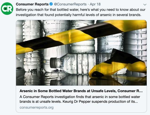 Arsenic-In-Water Scare Raises Risk For Eye-Rolling